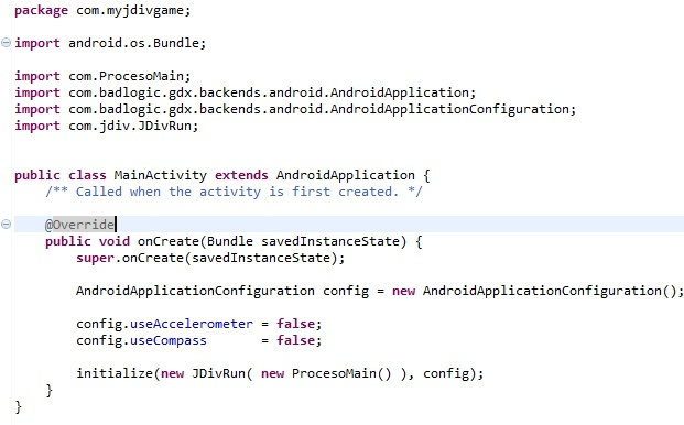 How to start creating android games using JDIV in the LibGDX game